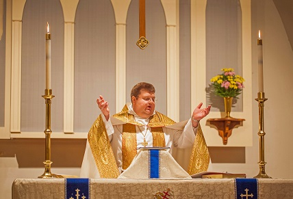 Fr. Grant at Easter Vigil
